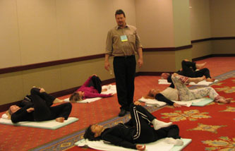 cliff smyth teaching at the body mind spirit conference 2007