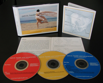 image of pelvic health and awareness cds, booklet and cover